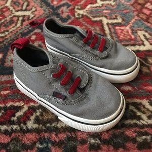 Vans toddler sneakers 6.5 w elastic laces